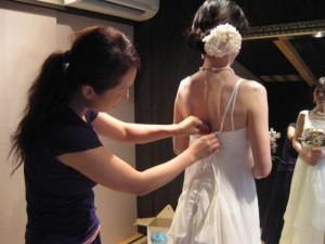 オーガニックコットンウェディングドレス